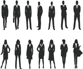Silhouette for business people
