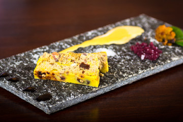 terrine of foie gras with apple chutney,