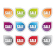 Sale, Vector price tags, labels, stickers and buttons