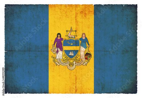 Grunge-Flagge Philadelphia (USA)