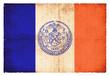 Grunge-Flagge New York City (USA)