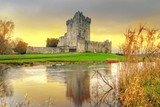 Ross Castle with reflection in Co. Kerry, Ireland