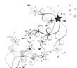 schwarz weiß Hintergrund Blumen