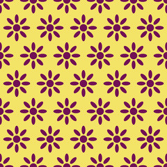 Vector set of four seamless pattern with floral decoration