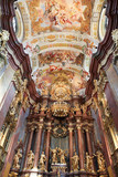 Interior of main church in Stift Melk, Austria