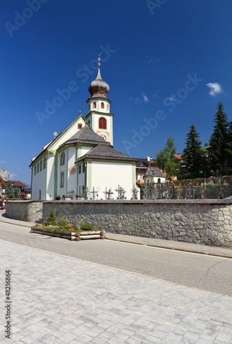 small church in San Cassiano, Alto Adige, Italy