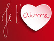 Valentine Day Je t'aime Heart