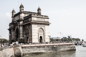 Gateway To India in city of Bombay, India