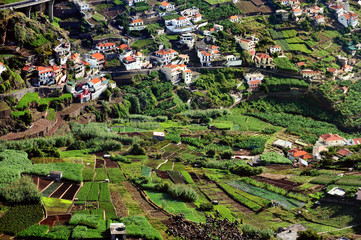 Village on south coast of Madeira, Camara de Lobos - Portugal