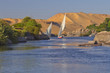Typical sailing on the Nile. (Aswan, Egypt).