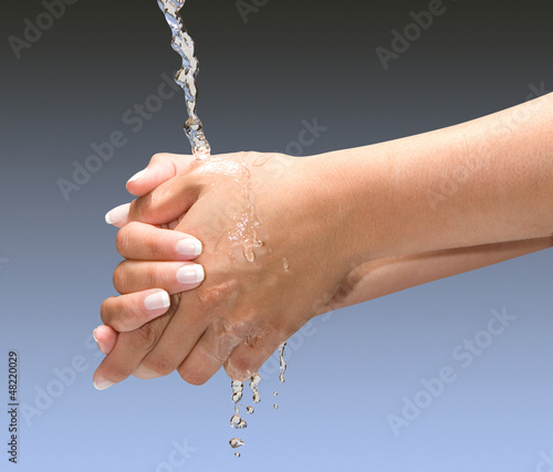 Washing Hands Isolated with clipping path