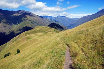 wild Caucasian mountains