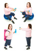 Plus Size Woman Exercise Collage