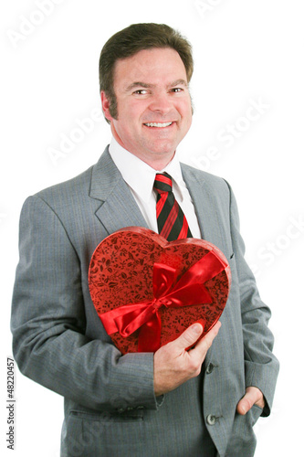 Valentine Guy Holding Heart