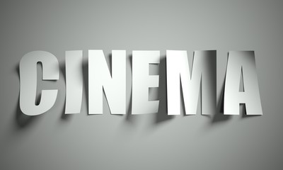 Cinema cut from paper on background