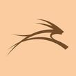 Logo gazelle in Africa # Vector