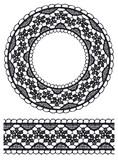 Round openwork lace border. poster