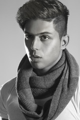 Fashion model with scarf (BW) - Series.