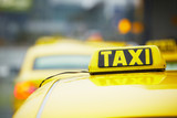 Fototapety Taxi cars