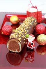 bûche de noël en chocolat