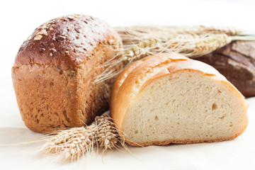 ready bread and wheat ears
