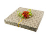 Gift paper box isolated white
