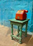Colorful public phone - 48223201