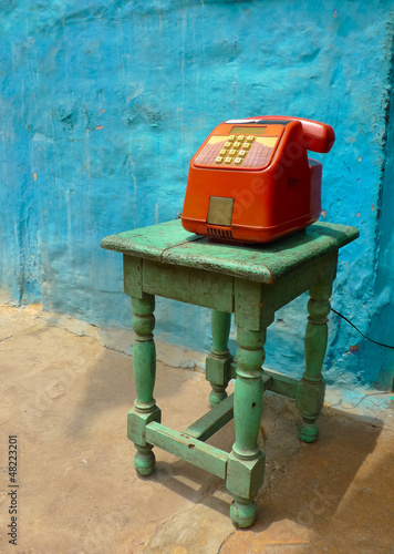 Colorful public phone