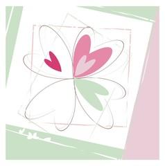 Four  hearts- vector