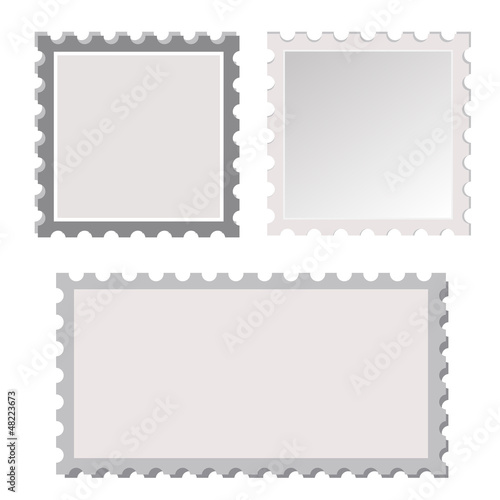 vector postage stamp template