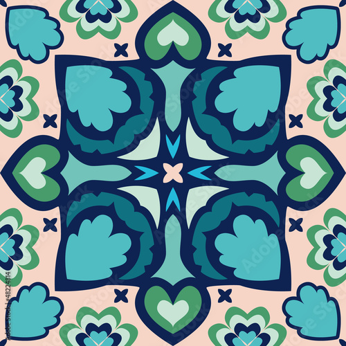 Seamless oriental geometric pattern,vector illustration