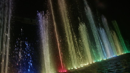 Dancing fountain.