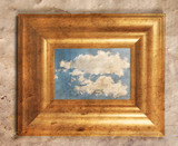 a distressed frame with a cloud in it