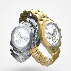 orologio da polso acciaio e oro