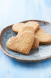 Heart-shaped cookies with sugar