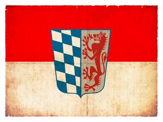 Grunge-Flagge Niederbayern (Bayern, Deutschland)