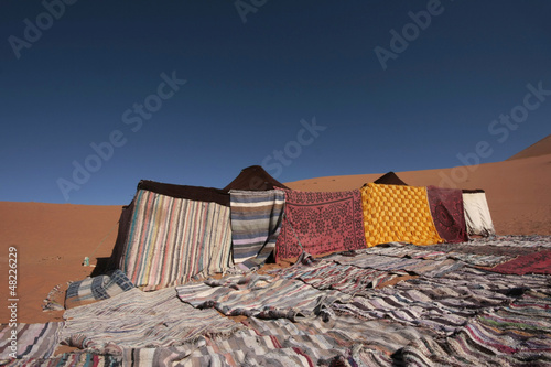 Nomadic Tents in the Eastern Sahara Desert