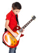 Young boy with  electric guitar