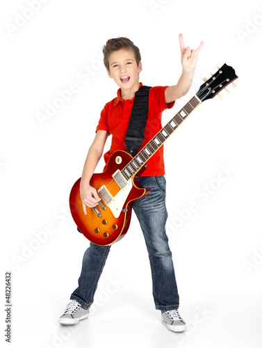 white boy with the electric guitar