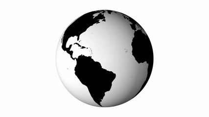 Earth black and white land