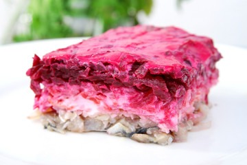 herring salad beetroot