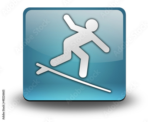 "Light Blue 3D Effect Icon ""Surfing"""