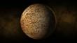 Planet mercury space, stars