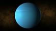 Planet uran space, stars