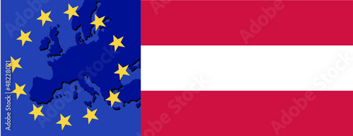 Flag of Austria and EU