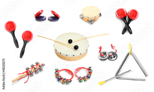 Great collection of a percussion instruments for musicians.