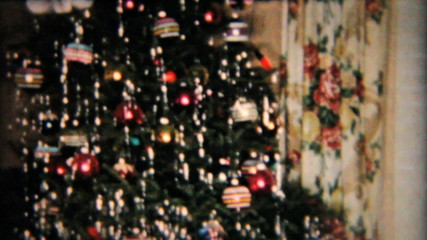 Beautiful Star On Christmas Tree-1958 Vintage 8mm film