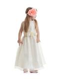 Little girl in long dress poster