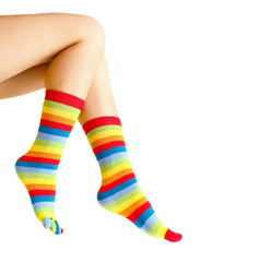 Colorful warm sock