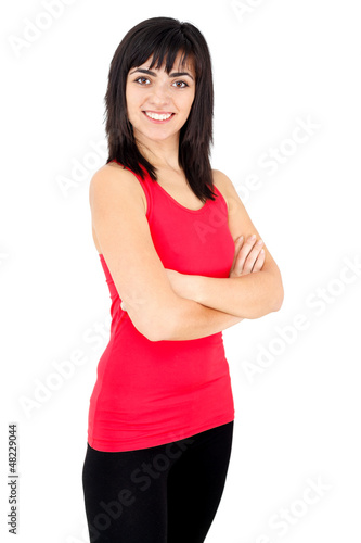 Smiling confident woman